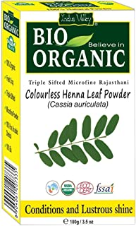 Indus Valley Bio Organic Colourless Henna Leaf Powder 100 g