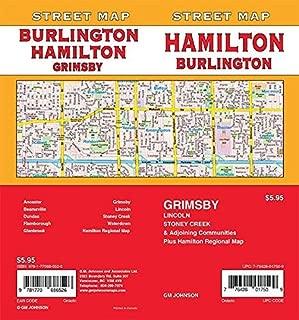 Hamilton / Burlington / Grimsby, Ontario Street Map