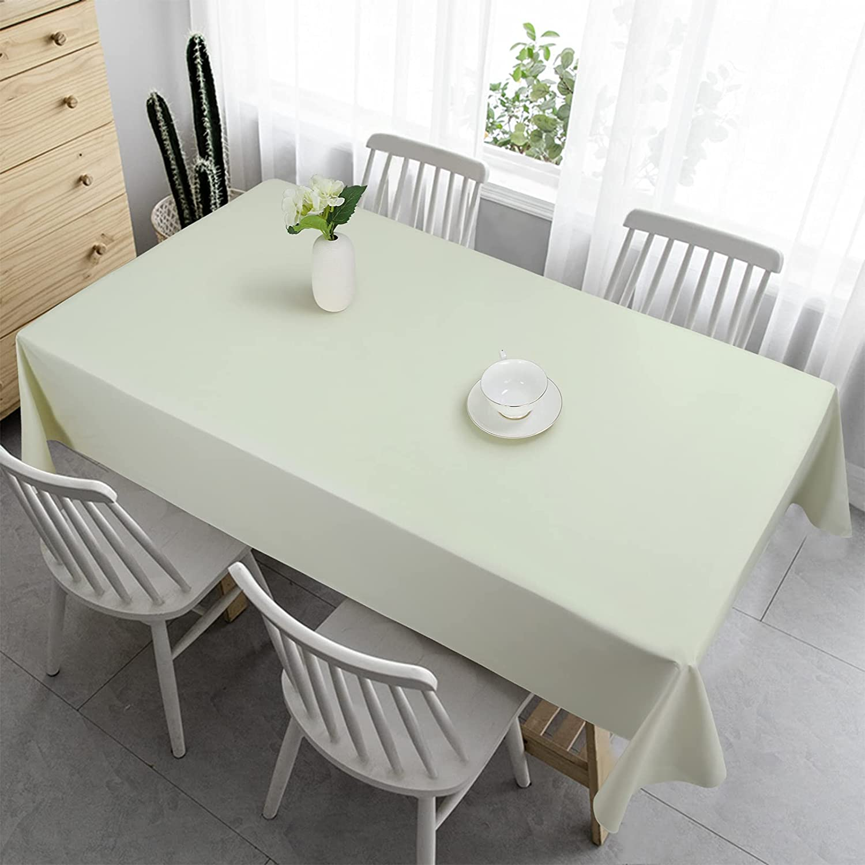 Oklahoma City Mall Vonabem price 100% Waterproof Rectangle PVC Tablecloth Vinyl Table Cl