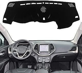 Autoxrun Black Dashboard Dash Protector Dash Mat Sun Cover Pad Fits 2014-2019 Jeep Cherokee