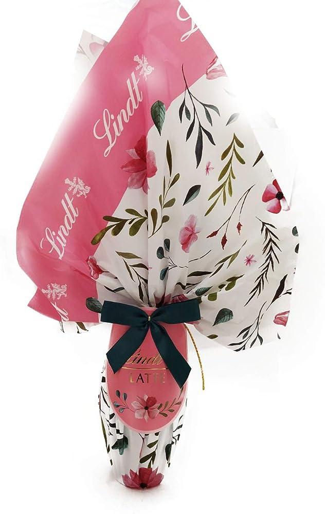 Lindt, uovo di pasqua flower, gr. 240 ,al cioccolato al latte