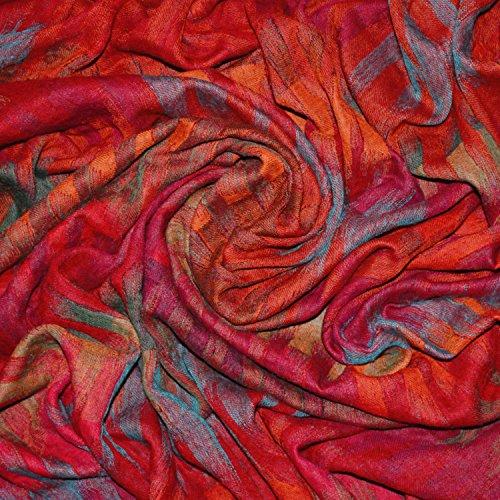 Lorenzo Cana Luxus Landhaus Wolldecke aufwändig Jacquard gewebtes Paisley Muster flauschig weich Decke 100prozent Wolle Wohndecke Sofadecke Wohndecke 96208