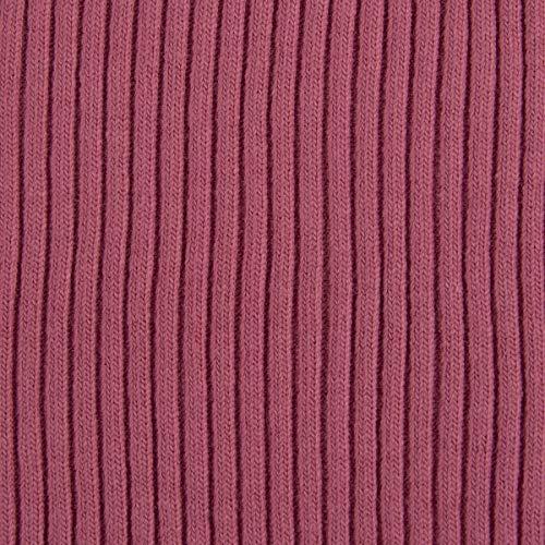 SCHÖNER LEBEN. Kreativstoff Strickschlauch Bündchenstoff grob dunkel rosa 30cm Breite