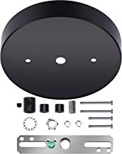 Canomo 5 1/8 Ceiling Lighting Modern Canopy Kit with Hardware - Includes Loop, Cross Bar and Mounting Screws (Black)