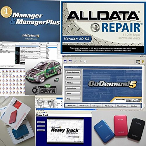 Alldata 2017 version All data V10.53 R and Mitchell car repair data software with 1TB hdd Hard Disk