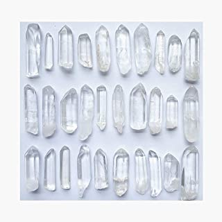 Colorsheng 100g 3.5oz 0.22lb Natural Clear Quartz Crystal Points Shards About 25-35 Piece Lot Average Brand