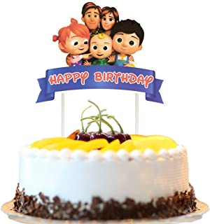 Cake Decorations for cocomelon Cake Topper Birthday Party Supplies Cupcake Toppers for Children