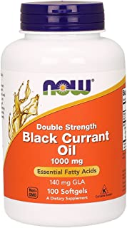 Now Foods Double Strength Black Currant Oil Dietary Supplement, 1000 mg, 100 Softgels