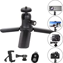 Mini Tripod Premium Tabletop Small Tripod Holder Cell Phone Mount w/Ball Head Shoe Mount for GoPro Webscan Projector Smart iPhone Compact Cameras DSLR Desktop Stand Hand by DESNFOTO (BXZ-TP001)