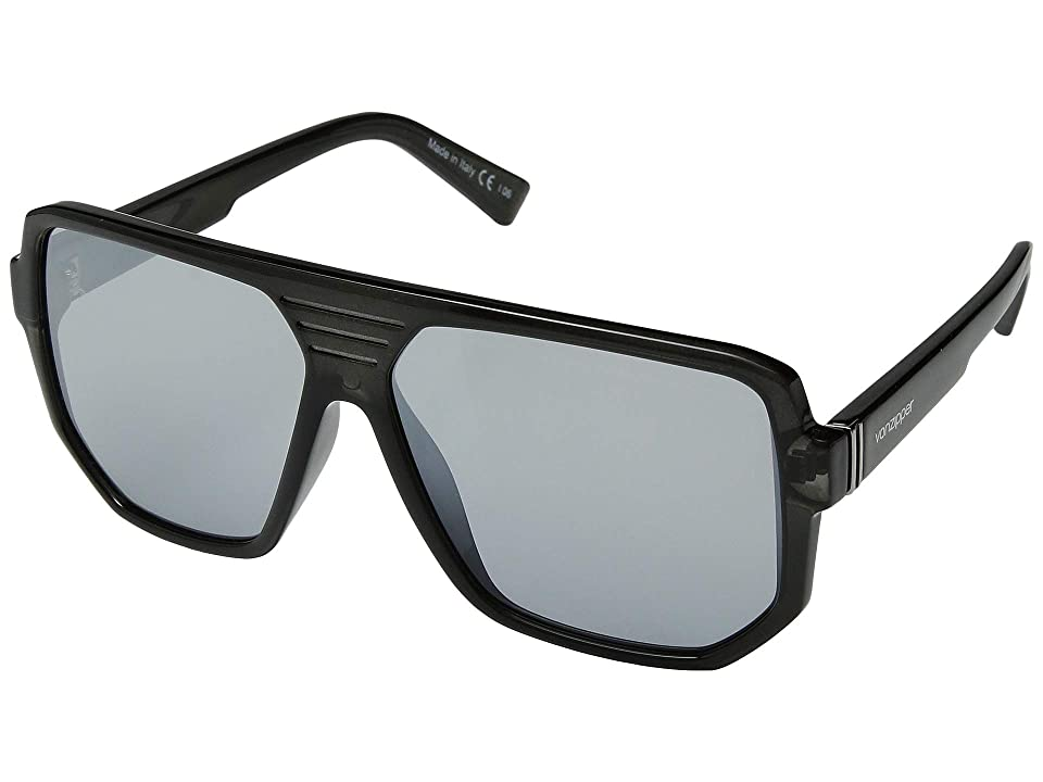 VonZipper Roller (Smoke/Silver Chrome) Athletic Performance Sport Sunglasses