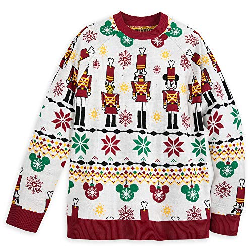 Disney Mickey Mouse and Friends Light-Up Holiday Sweater for Adults Size Unisex L Multi