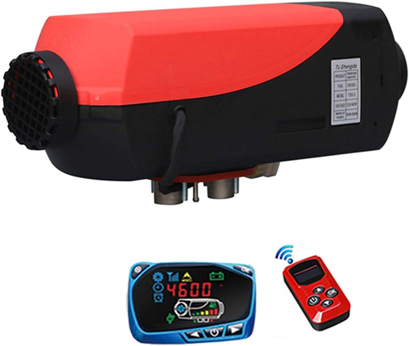 ADMLZQQ Calentador de Aire Diesel 12V/24V 5KW con Silenciador, Tanque de 10L Furgonetas de calefacción de vehículos con Monitor Control Remoto LCD para Furgonetas