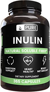 Inulin FOS (365 Capsules) from Jerusalem Artichoke, 100% Pure & Natural, Non-GMO & Gluten-Free (1280 mg Serving)