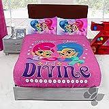 DPW Shimmer and Shine Genies - Juego de sábanas de forro polar, 4 piezas, decoración de coches azules