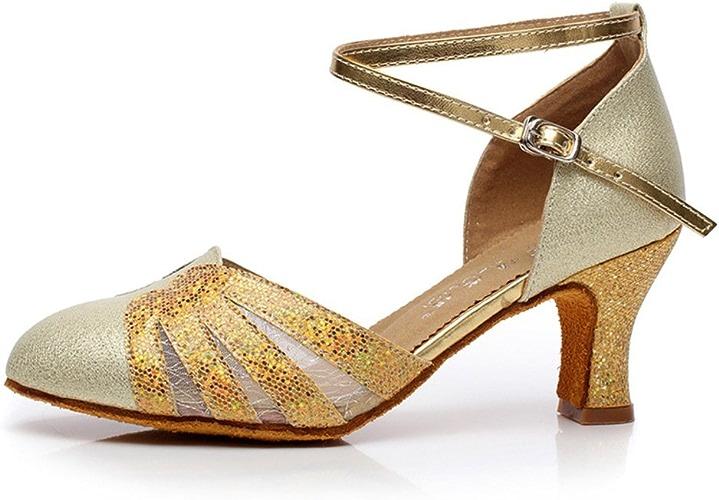 WYMNAME femmes Paillettes Chaussures de Danse Latine,Fils Net Chaussures de Danse Chaussures de Danse Moderne Chaussures de Danse de Salon