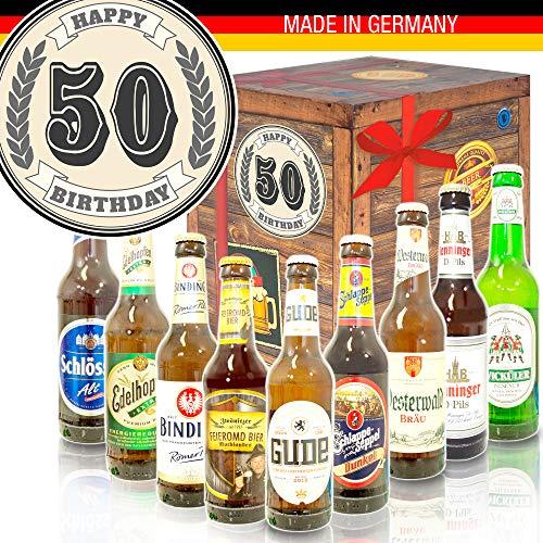 50. Geburtstag - Deutsche Bier Box - ausgefallene Geschenke zum 50. Geburtstag
