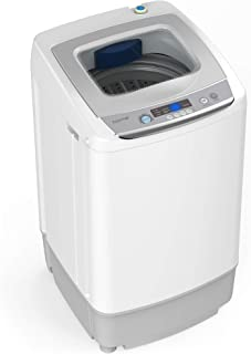 Portable Washing Machine - 6 Pound Load Capacity, 0.9 Cubic Foot Interior, 5 Wash Cycles, and LED Display - Perfect for Ap...