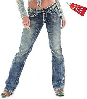 ヨーロッパとアメリカのジーンズMsファッションミドルウエスト刺繍ストレート ガールズ (Size : XXXL)