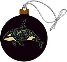 GRAPHICS & MORE Killer Whale Orca with Waves Wood Christmas Tree Holiday Ornament