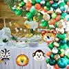 151Pcs Jungle Party Balloon Arch Kit with Green Balloon Animal Balloons Artificial Tropical Palm Leaves for Birthday Baby Shower Jungle Theme Party Theme Party Decorations #5