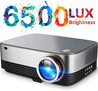 VIVIMAGE C680 Native 1080p Projector, 6500 Lux Full HD LED Home Theater Movie Projector 60Hz Compatible TV Stick, HDMI, VGA, USB, Laptop, iPhone Android for PowerPoint Presentation