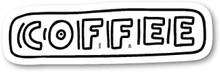ملصقات اقتباسات القهوة المضحكة من Coffee Jittery Sticker - ملصقات الكمبيوتر المحمول - 2.5 بوصة ملصق الفينيل - الكمبيوتر ال...