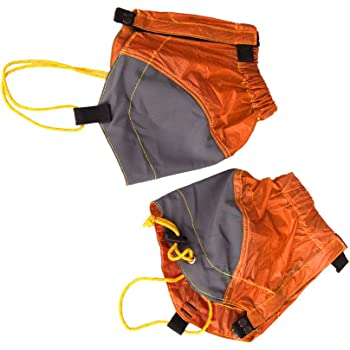 【MagiDeal】防水 足首 ゲートル ハイキング  歩行 水濡れ防止 登山 裾や靴 弾性 屋外 (オレンジ)