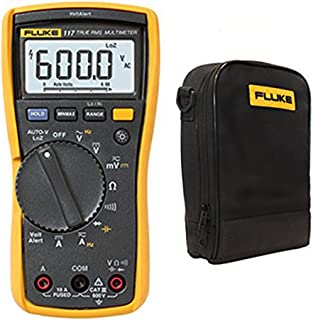 FLUKE 117 True RMS Digital Multimeter W/C115 Tragetasche und Messleitungen