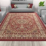 Sweet Home Red Medallion Design Area Rug (3'3'X5'0') 3 Feet 3 Inch by 5 Feet 0 Inch with Non-Skid (Non-Slip) Rubber Backing