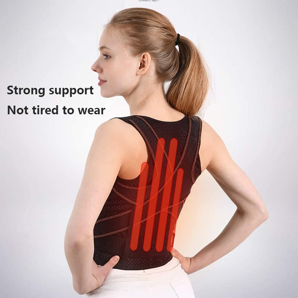 YUMUO Humpback Corrective Clothing Adultes Enfants Étudiants Straight Back Strapless Artefact Anti-Spinal Scoliosis Correction Back Braces (Size: S) 1