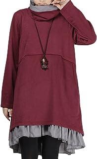 d33193aab2 Amazon.it: Maglia rossa collo alto - Vestiti / Donna: Abbigliamento