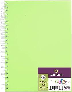 Álbum Espiral, Polipro A5, 50 Hojas, Canson Notes, Grano Fino 120g Verde