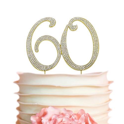 60 GOLD Cake Topper