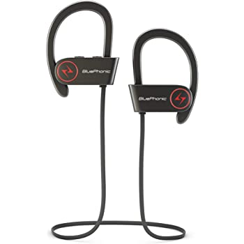 Amazon Com Bluephonic Wireless Sports Workout Headphones Hd Beats Sound Quality Sweat Proof Stable Fit In Ear Bluetooth Earbuds Ergonomic Running Earphones Noise Cancelling Microphone