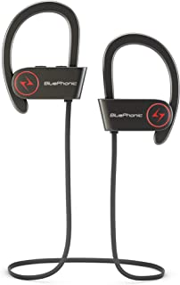 Bluephonic Wireless Sports Workout Earbuds, Hd Sound Quality, Sweat Proof Stable Fit in Ear Bluetooth Earbuds, Ergonomic R...