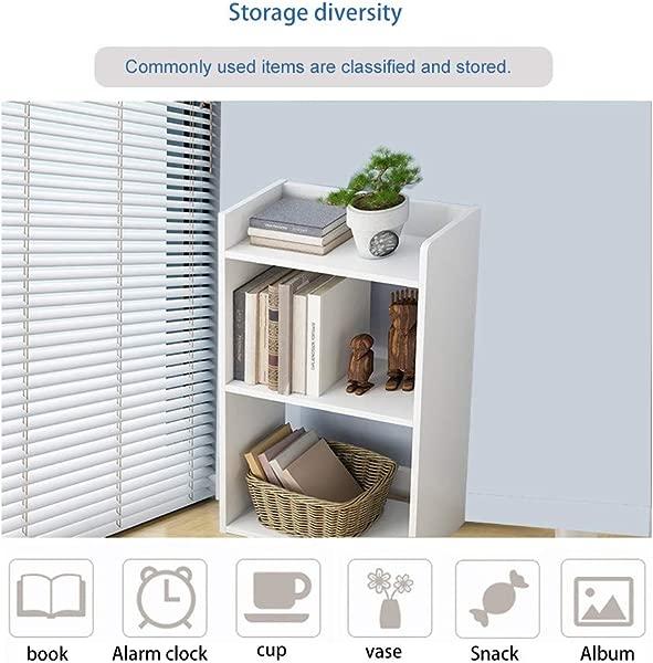 ZIPSAK Simple Floor Bedroom Shelf Creative Free Combination Small Bookcase Bookshelf Quality Guaranteed Space Saving Organizer Desktop Storage Basket Sundries Storage Box Closet Toy Bins