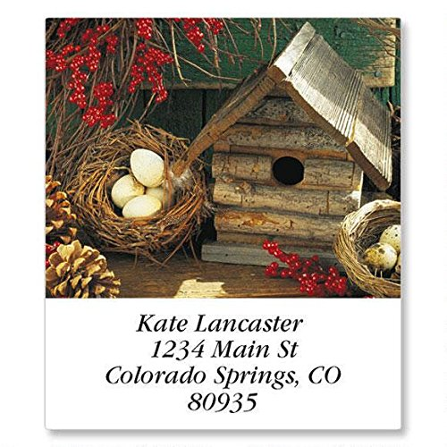Blossoms and Birdhouses Self-Adhesive, Flat-Sheet Select Address Labels (12 Designs)