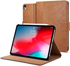 Spigen Apple iPad PRO 12.9 inch (2018) Stand Folio Leather stand cover/case - Brown - Version 2 Apple Pencil compatible with Auto Sleep/Wake