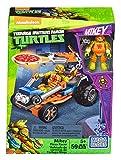 Mega Bloks DMX38 Vehículo Lanzador de Pizza de Michelangelo, Tortugas Ninja, Juego de construcción (Mattel DMX38)