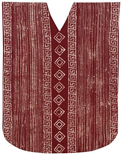 LA LEELA Mujeres Caftán Algodón túnica Batik Kimono Libre tamaño Largo Maxi Vestido de Fiesta para Loungewear Vacaciones Ropa de Dormir Playa Todos los días Cubrir Vestidos Granate_X581