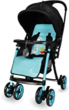 R for Rabbit Poppins Plus Pram- Baby Stroller and Pram for Baby with Mosquito Net and Hanging Toy(Blue Black)