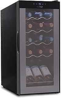 15 Bottle Wine Cooler Refrigerator - White & Red Wine Fridge Chiller Countertop Wine Cooler - Freestanding Compact Mini Wi...