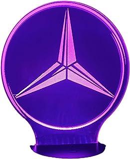 MER. (logo), Lampada illusione 3D con LED - 7 colori.