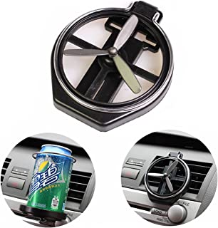 Car Cup Holder Variable Form Mini Fan Adapter Organizer Fold Coke Holder (Black)