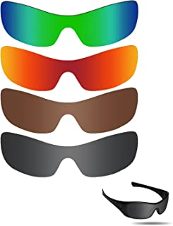 Fiskr Anti-saltwater Replacement Lenses for Oakley Antix Sunglasses 4 Pairs Pack