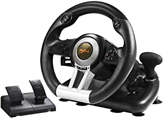 PC Racing Wheel، PXN V3II 180 درجه Universal Usb Car Sim Race Steering Wheel with Pedals for PS3، PS4، Xbox One، Xbox 360