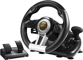 PXN PCレーシングホイール PS3 PS4 Xbox One用ペダル付き 180°ステアリングコントローラー V3IIB