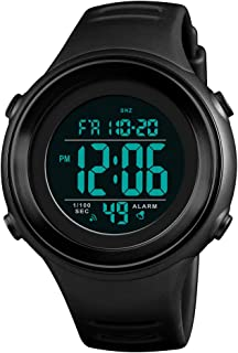 Men's Sports Digital Watches, Military Outdoor Waterproof Wrist Watch Multifunction Large Face Watches for Men