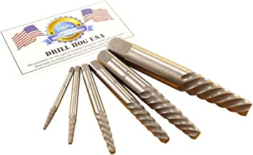 Drill Hog 6 Pc Spiral Easy Out Set Round Screw Extractor