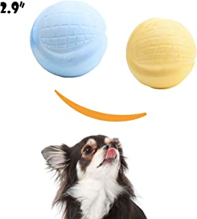 HOLYSTEED Tennis Balls for Dogs, Dog Fetch Balls Extremely Bouncy Interactive Dog Ball, Unflavored, 2.8inch 3.8oz for Small and Medium Dog Non-Aggressive,2 Pack